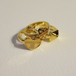 Tory Burch stacked rings